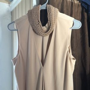 Jeweled tank blouse